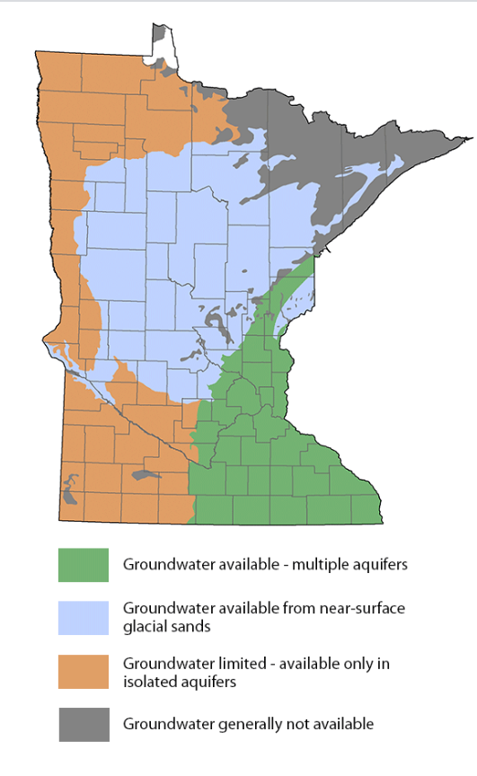 Groundwater Availability Map MN-MPCA